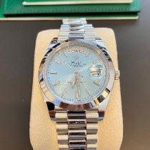 Rolex Day-Date 40 gebraucht 40mm Blau Datum Platin