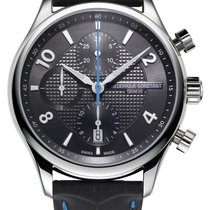 Frederique Constant Runabout Chronograph Steel 42mm Black