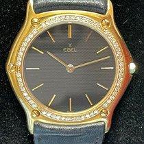 Ebel Classic Желтое золото 36mm Черный Без цифр