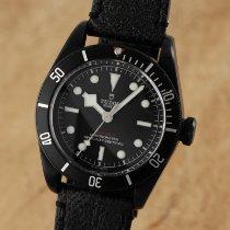 Tudor Black Bay Dark pre-owned 41mm Black Date Leather
