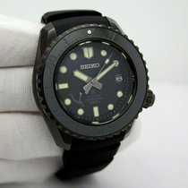 Seiko Titanium Automatic Black pre-owned Prospex