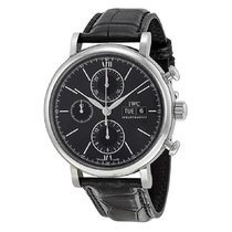 IWC Portofino Chronograph Steel 42mm Black No numerals United States of America, New York, New York