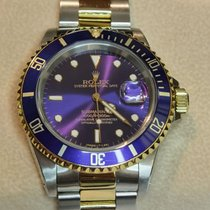 Rolex Submariner Date Золото/Cталь 40mm Фиолетовый Без цифр