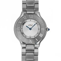 Cartier 21 Must de Cartier Steel 31mm Silver Roman numerals United States of America, Maryland, Baltimore, MD