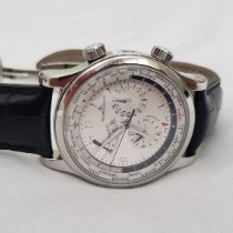 Jaeger-LeCoultre Master World Geographic Steel 42mm Silver Arabic numerals United States of America, Connecticut, Norwalk