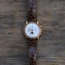 Patek Philippe Perpetual Calendar Chronograph Oro rosa 36mm Plata