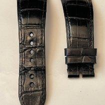 Cartier Parts/Accessories Men's watch/Unisex pre-owned Crocodile skin Black