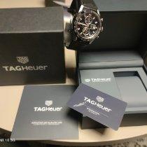 TAG Heuer Carrera Calibre HEUER 01 gebraucht Schwarz Chronograph Datum Tachymeter Kautschuk