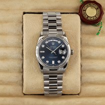 Rolex Day-Date 36 White gold 36mm Blue United States of America, New York, Airmont