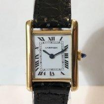 Cartier Tank Louis Cartier Gelbgold 28mm Weiß Römisch