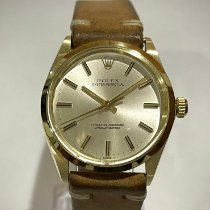 Rolex Oyster Perpetual 34 Yellow gold 34mm Silver No numerals