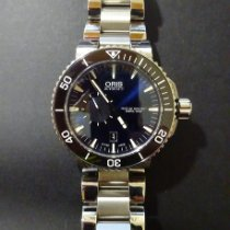 Oris Aquis Small Second pre-owned 46mm Blue Steel