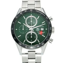 TAG Heuer Carrera Calibre 16 pre-owned 41mm Green Steel