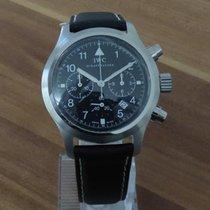 IWC Fliegeruhr Chronograph Stahl 36mm Schwarz Arabisch