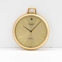 Rolex Uhr gebraucht 1971 Gelbgold 36mm Handaufzug Uhr mit Original-Box und Original-Papieren