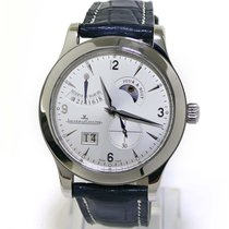 Jaeger-LeCoultre Master Eight Days pre-owned 42mm Date Crocodile skin