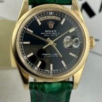 Rolex Day-Date 36 Желтое золото 36mm Черный