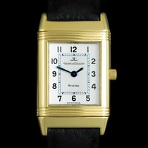 Jaeger-LeCoultre Yellow gold Quartz Silver Arabic numerals 20mm pre-owned Reverso (submodel)