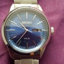 Seiko Solar Steel 40mm Blue United Kingdom, Stamford