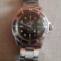 Tudor Steel Automatic Black No numerals 39mm pre-owned Submariner