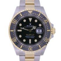 Rolex (ロレックス) イエローゴールド 自動巻き ブラック 文字盤無し 43mm 新品 Sea-Dweller