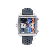 TAG Heuer Monaco novo 2021 Automático Cronógrafo Relógio com caixa e documentos originais CAW211R.FC6401