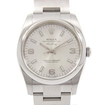 Rolex Automatic Silver 34mm pre-owned Oyster Perpetual 34