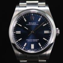Rolex Oyster Perpetual 36 Otel 36mm Albastru Fara cifre