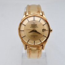 Omega Yellow gold Automatic Gold (solid) No numerals 34.5mm pre-owned Constellation