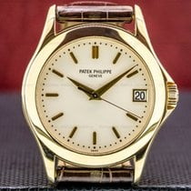 Patek Philippe Calatrava pre-owned 37mm White Date Buckle