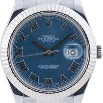 Rolex Datejust II Aço 41mm Azul Romanos