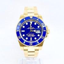 Rolex Submariner Date Yellow gold 40mm Blue No numerals United Kingdom, Watford