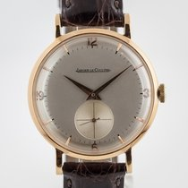 Jaeger-LeCoultre Yellow gold Manual winding Silver Arabic numerals 35.5mm pre-owned