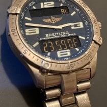 Breitling Tantal Quarz Blau 43mm gebraucht Aerospace Avantage
