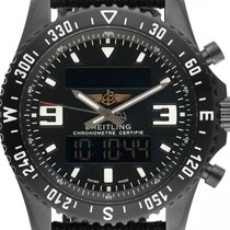 Breitling Chronospace Military Титан 46mm Черный Aрабские