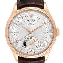 Rolex Cellini Dual Time Oro rosa 39mm Plata