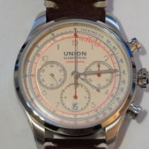 Union Glashütte Belisar Chronograph pre-owned 44mm Champagne Chronograph Date Leather