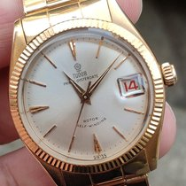Tudor Rose gold Automatic Silver pre-owned Prince Oysterdate