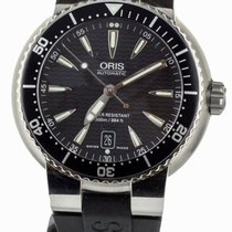 Oris Steel Automatic Black 44mm pre-owned Divers