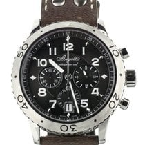 Breguet Steel Automatic Brown 42mm pre-owned Type XX - XXI - XXII
