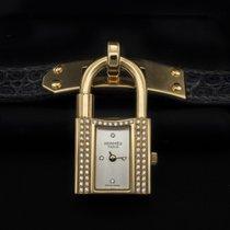 Hermès Kelly Żółte złoto 20mm Srebrny Bez cyfr