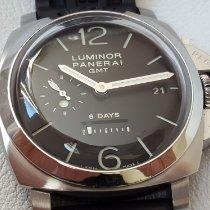 Panerai Luminor 1950 8 Days GMT Acier 44mm Noir Arabes