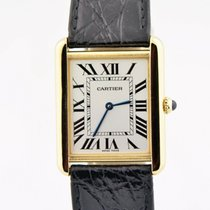 Cartier Tank Solo pre-owned 34.8mm Silver Leather