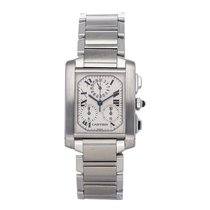 Cartier Tank Française W51001Q3 Very good Steel 28mm Quartz
