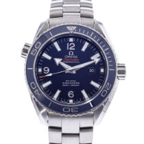 Omega Titanium Automatic Blue 37.5mm pre-owned Seamaster Planet Ocean