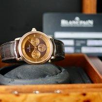 Blancpain Villeret occasion 38mm Bronze Chronographe Date Cuir de crocodile