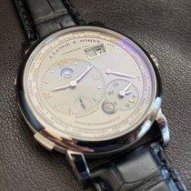 A. Lange & Söhne Platin Handaufzug Silber Römisch 41.9mm gebraucht Lange 1