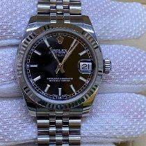 Rolex Lady-Datejust Сталь 31mm Черный