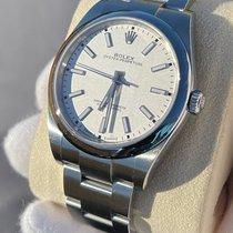 Rolex Oyster Perpetual 39 Ocel 39mm Bílá Bez čísel