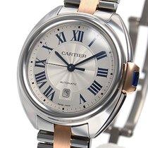 Cartier Clé de Cartier Stahl 31mm Silber Römisch